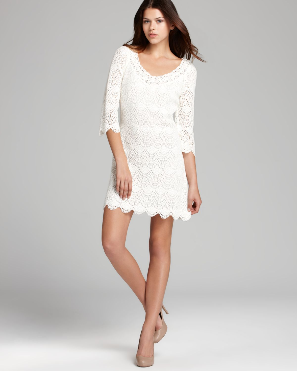 8b2e317d50 Lyst - Juicy Couture Dress Grace Crochet in White