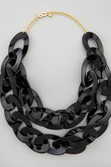Kenneth Jay Lane Double Strand Enamel Link Necklace  - Lyst