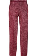 Marc Jacobs Cropped Metallic Bouclé Wool-Blend Pants - Lyst