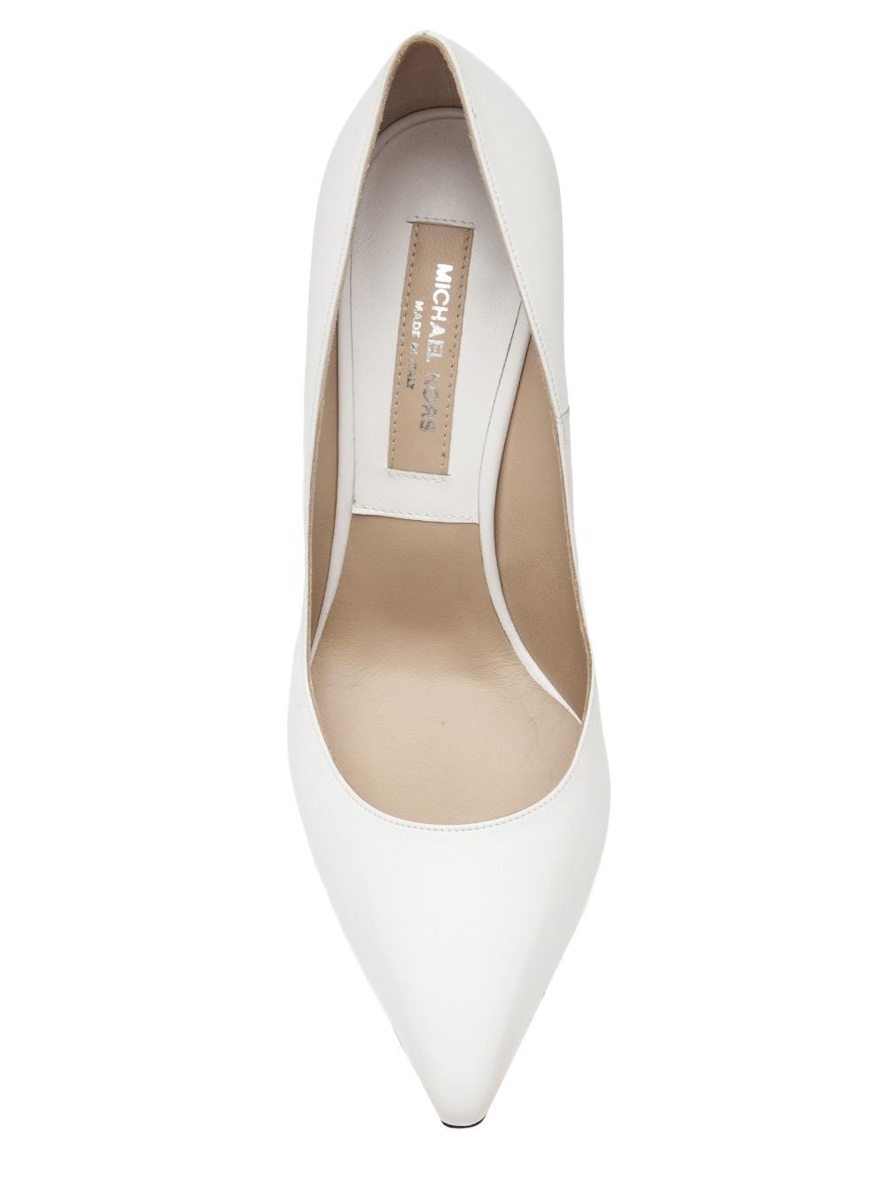 c6b951c6c66 ... Michael Kors Curved Heel Pump in White - Lyst ...