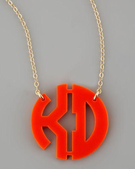 Moon lola hartford acrylic block twoletter monogram for Acrylic letter necklace