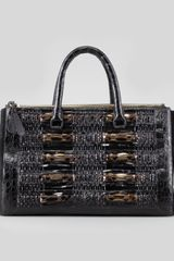 Nancy Gonzalez Crocodile Python Calf Hair Tote Bag Black - Lyst