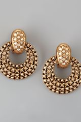 Oscar de la Renta Pave Doorknocker Earrings - Lyst