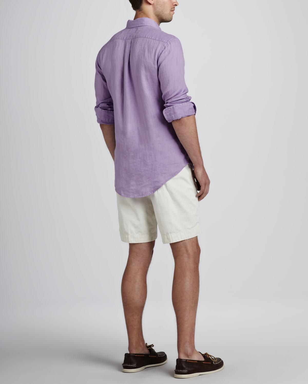 Lyst Polo Ralph Lauren Linen Sport Shirt Hampton Lilac