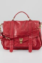 Proenza Schouler Ps1 Large Satchel Bag Red - Lyst