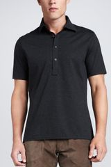 Ralph Lauren Black Label Striped Jersey Polo Shirt - Lyst