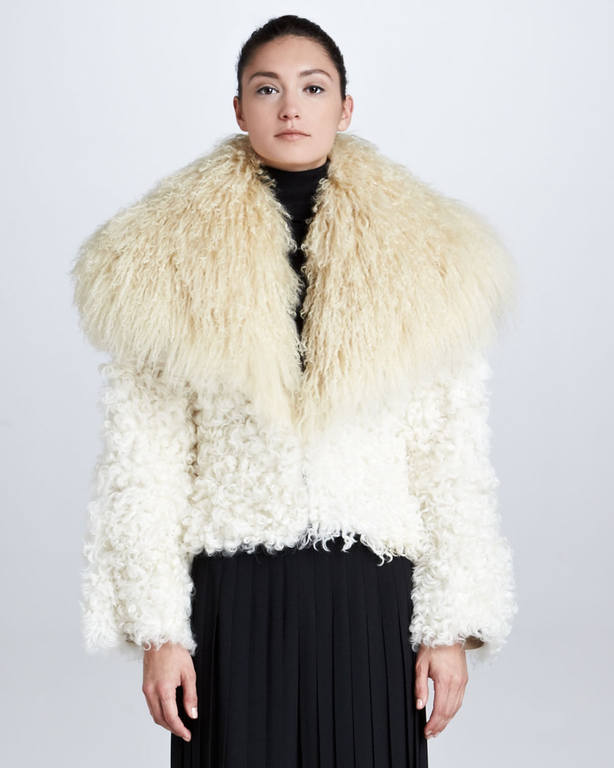 Best Place To Buy Clearance Footaction Ralph Lauren Collection collarless fur jacket New Styles DdvRIEy