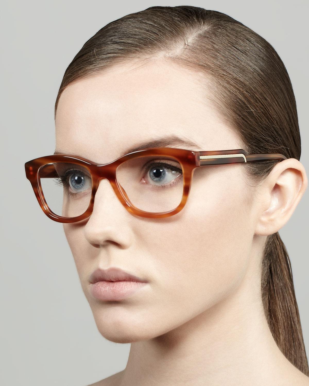 46e03eca8f5 Lyst - Stella McCartney Oversized Rounded Square Frame Fashion ...