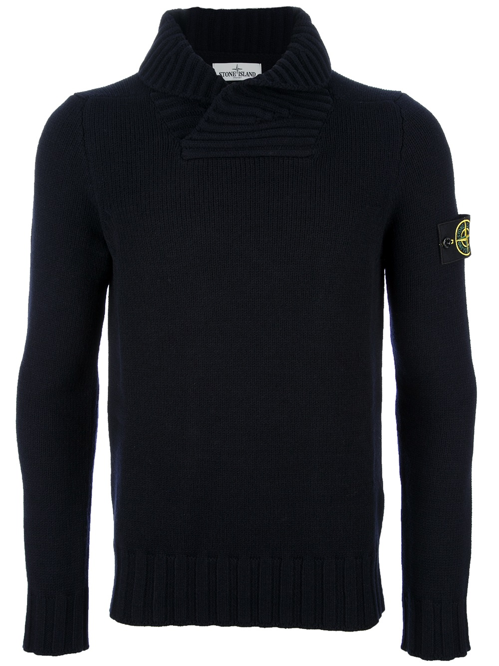 Stone Island Cowl Neck Sweater In Blue For Men Navy Lyst