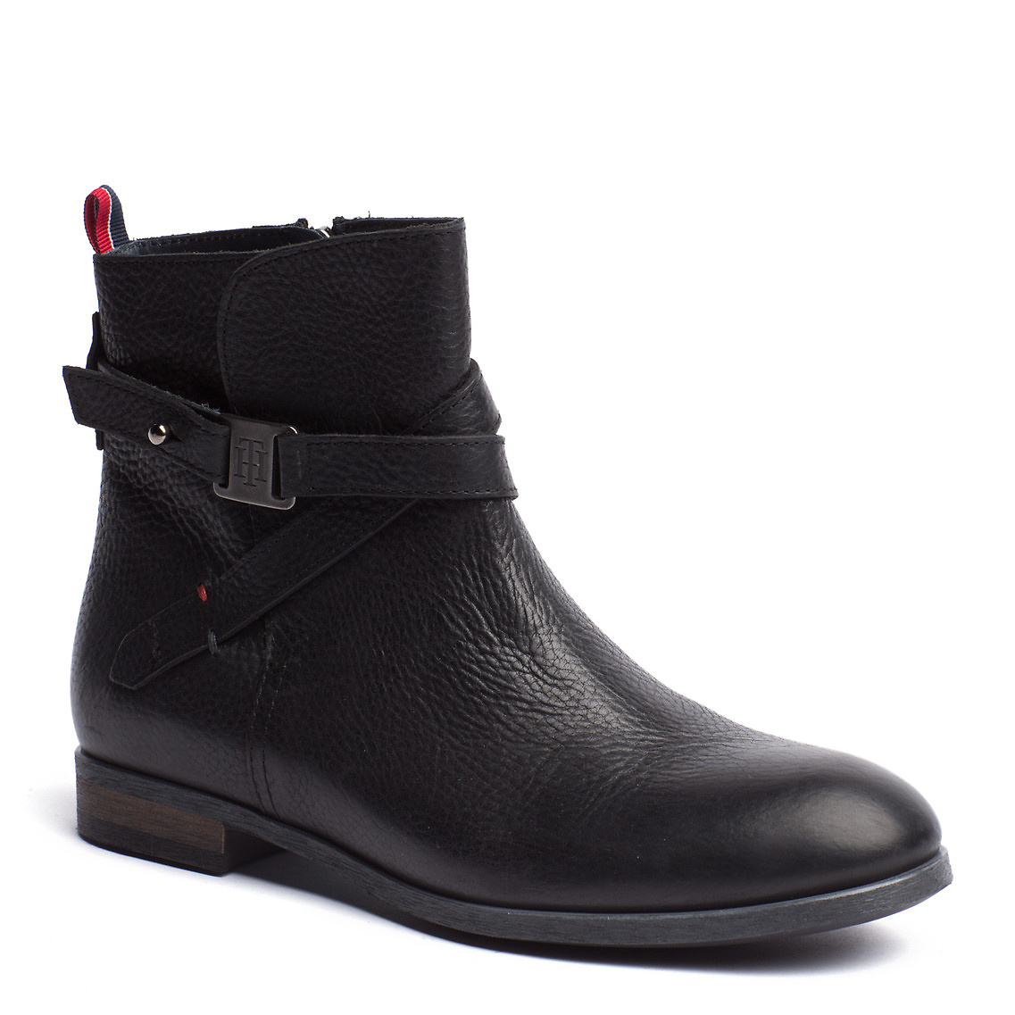tommy hilfiger billie ankle boots in black lyst. Black Bedroom Furniture Sets. Home Design Ideas