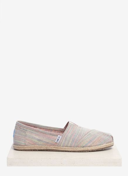 Toms Classics Baxter Wovenstripe Slipons in Beige (Multi-colour)