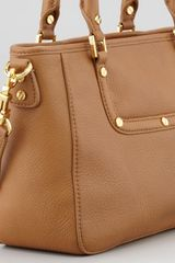 Tory Burch Amanda Mini Satchel Bag Tan - Lyst