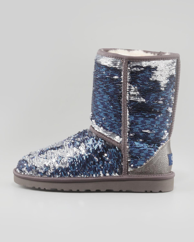 lyst ugg sparkles classic short boot midnight multi in blue rh lyst com