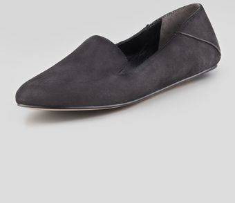 Vera Wang Lavender Georgia Suede Smoking Slipper Black - Lyst