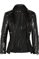 Altuzarra Felt-paneled Faux Leather Biker Jacket - Lyst
