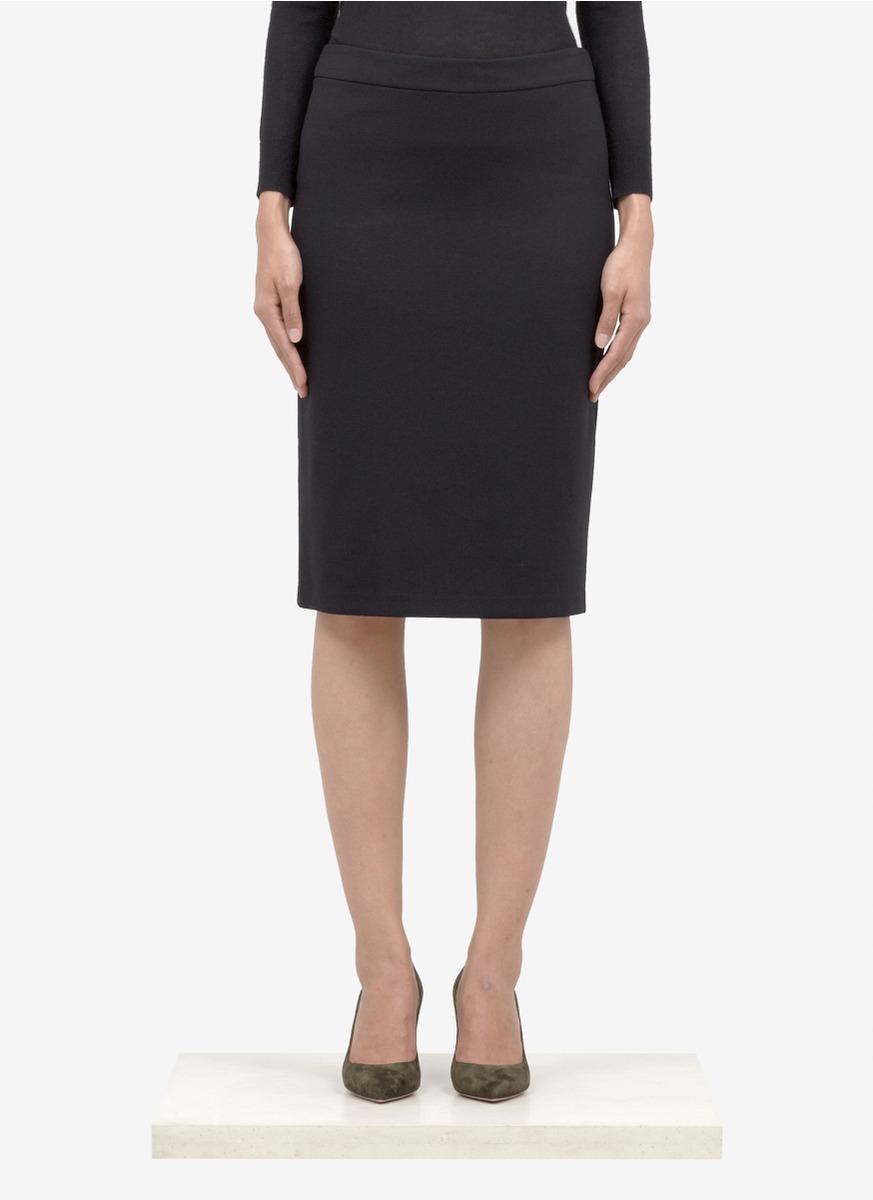 armani pencil skirt in black lyst