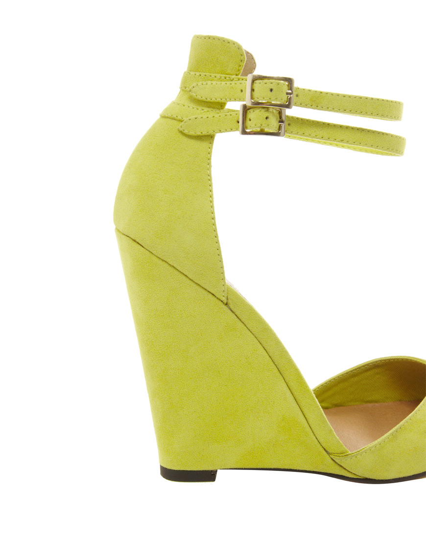 Asos Perplex Pointed High Heels In Yellow Lyst