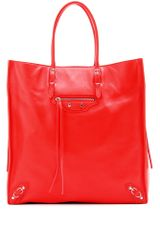Balenciaga Papier Ledger Leather Tote - Lyst
