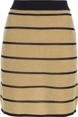 Balmain Striped Skirt - Lyst