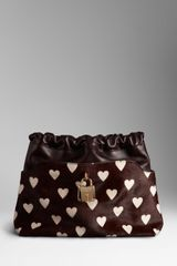 Burberry The Little Crush in Heart Print Calfskin and Leather - Lyst