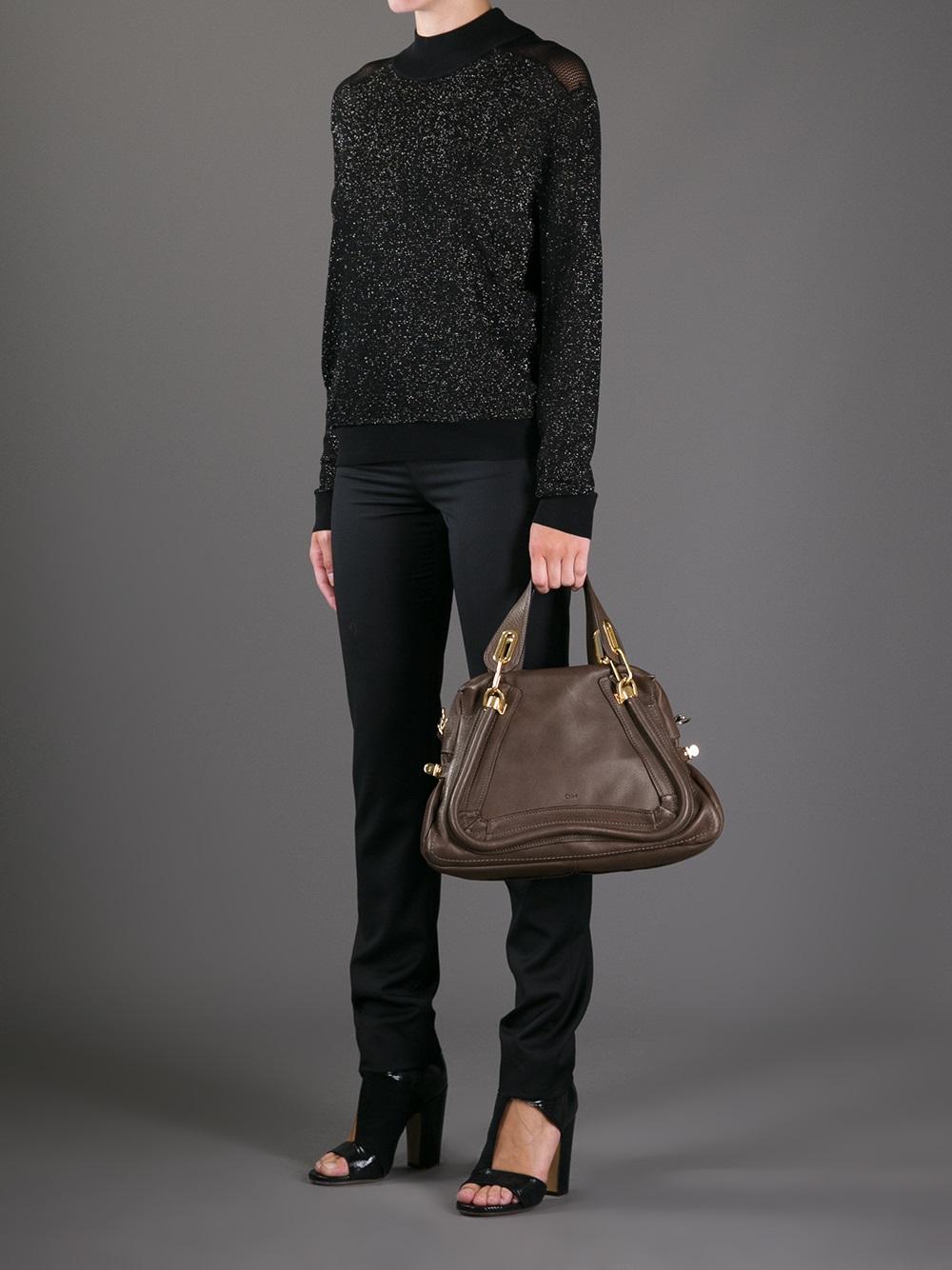 Chlo¨¦ Paraty Shoulder Bag in Brown (grey) | Lyst