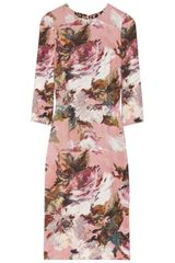 Dolce & Gabbana Floralprint Crepe Dress - Lyst