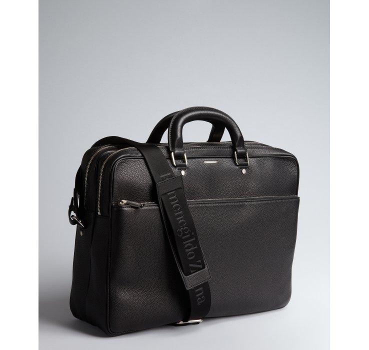 Lyst Ermenegildo Zegna Black Fullgrain Leather Briefcase