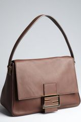 Fendi Brown Leather Mamma Shoulder Bag - Lyst