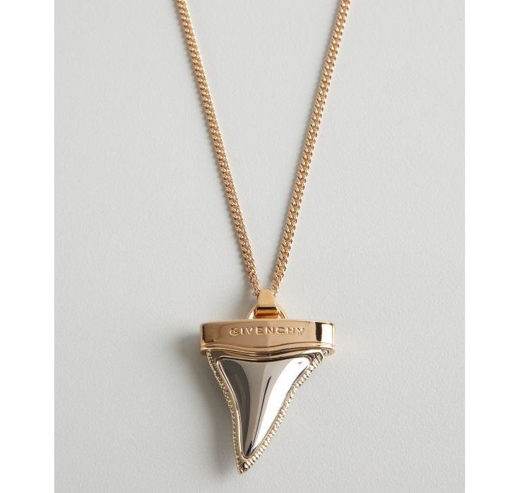 givenchy gold shark tooth necklace in gold lyst