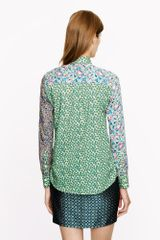J.crew Liberty Boy Shirt in Mixed Prints in Green (ballet pink multi) - Lyst