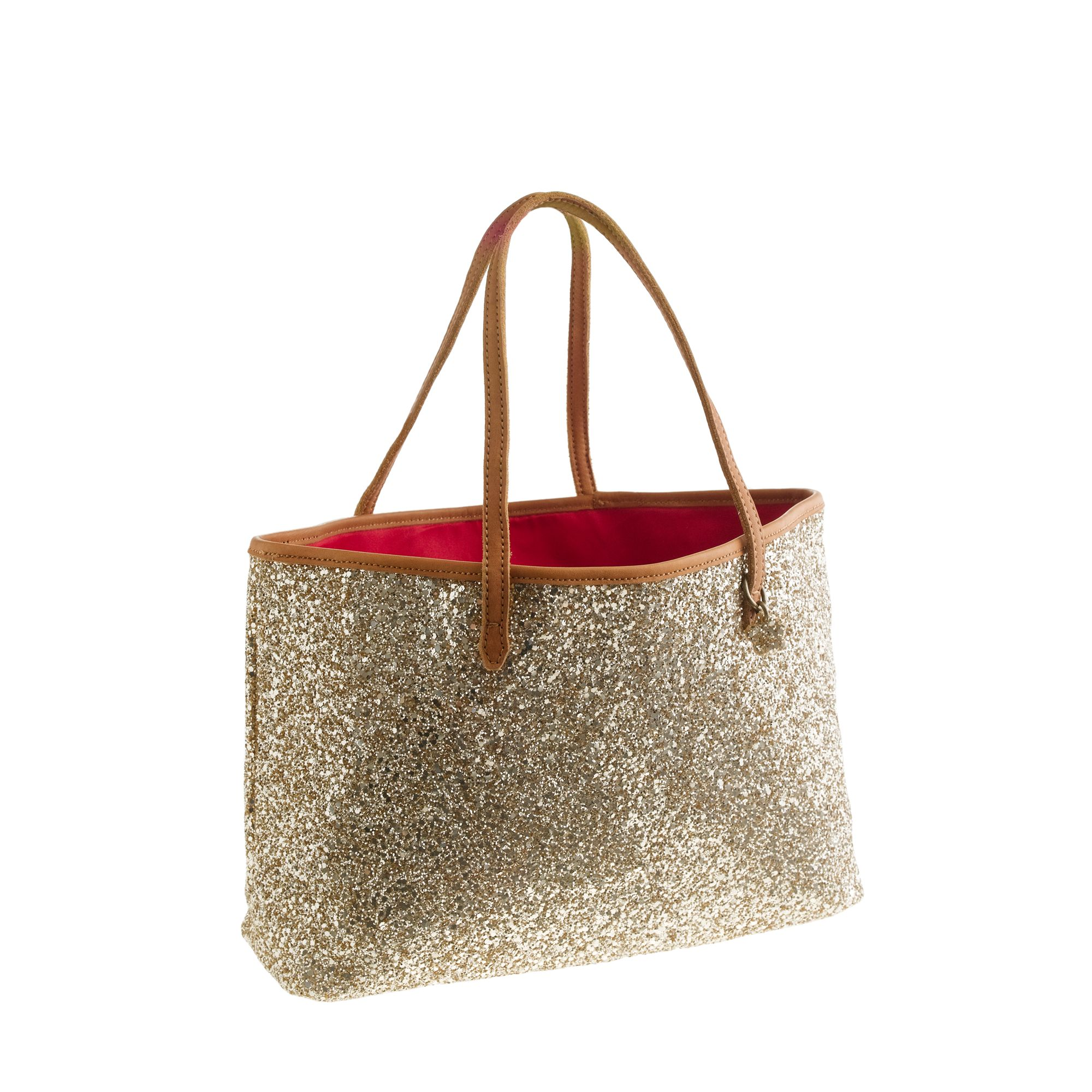 crew Girls Glitter Tote Bag in Gold (glitter light gold)