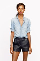 J.Crew Collection Leather Short - Lyst