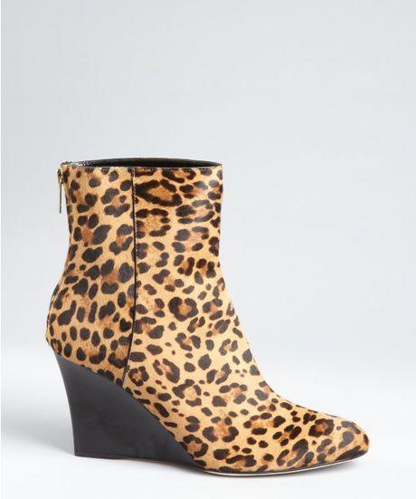 jimmy choo leopard print calf hair mayor wedge ankle