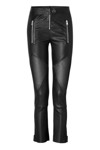 Jitrois Leather Zip Pocket Pants in Black - Lyst