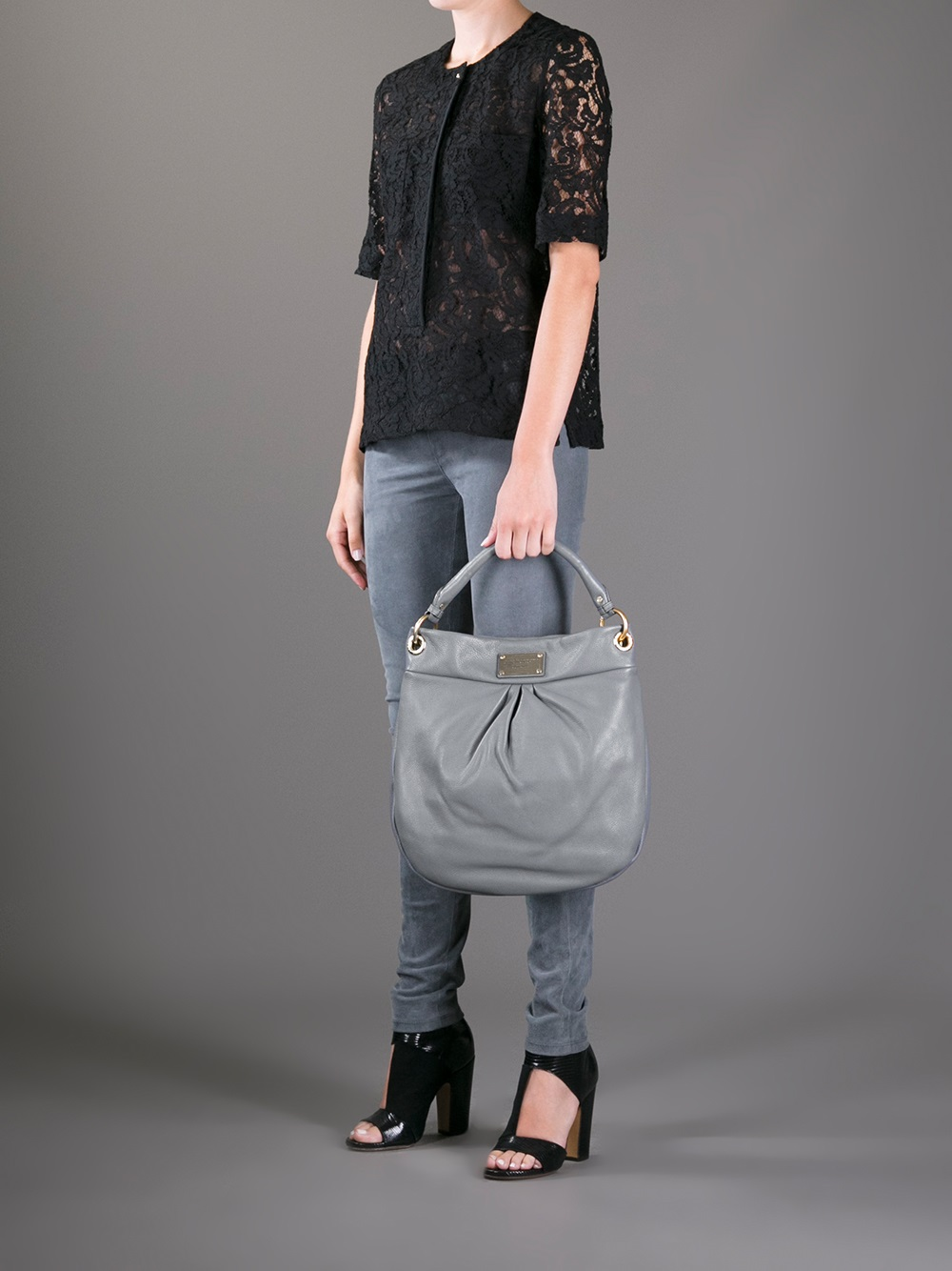 689e8e96b47 Marc By Marc Jacobs Hillier Hobo Classic Q Tote in Gray - Lyst