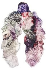 Mary Katrantzou Landscape-print Modal and Cashmere-blend Scarf - Lyst