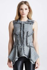 McQ by Alexander McQueen Fringed Plaid Tunic - Lyst