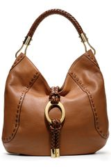 Michael Kors Skorpios Pebbled Ring Hobo - Lyst