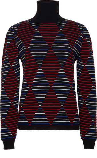MSGM Geometric Turtleneck - Lyst