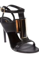 Saint Laurent Sandal Heel - Lyst