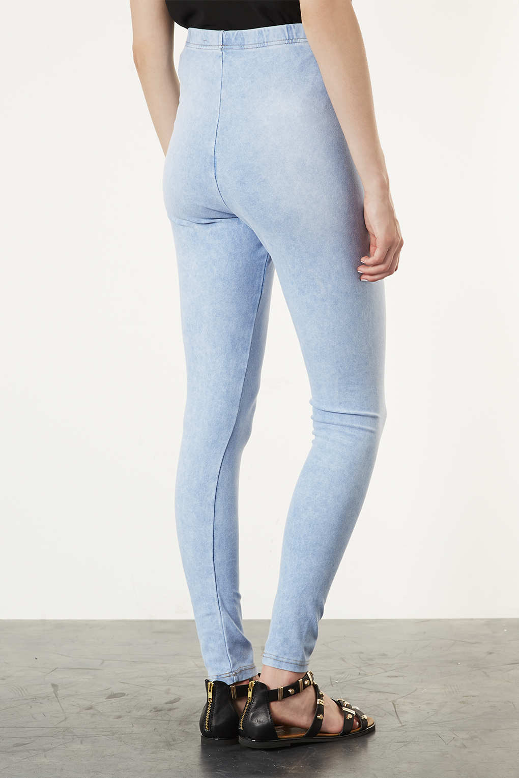 Topshop Maternity Bleached Denim Leggings in Blue | Lyst