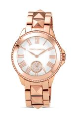 Vince Camuto Rose Gold Tone and Crystal Watch 38mm - Lyst