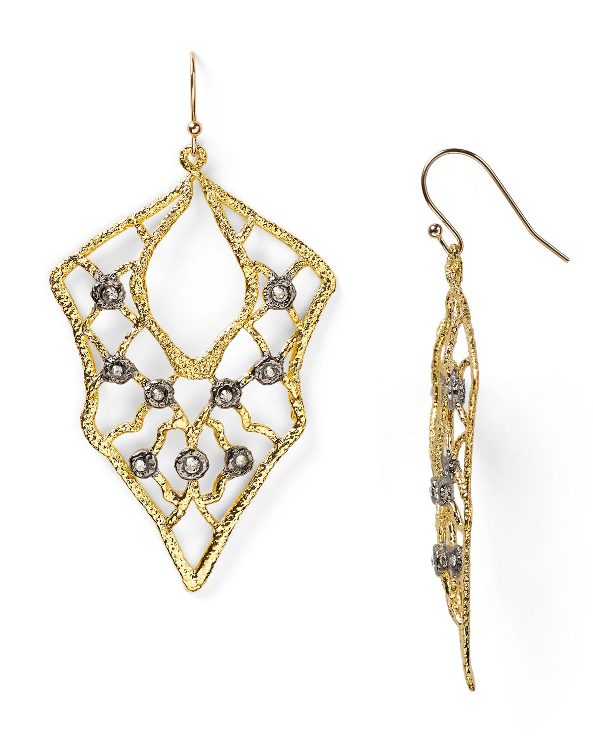Lyst alexis bittar jardin de papillon lace wire earrings for Alexis bittar jardin de papillon