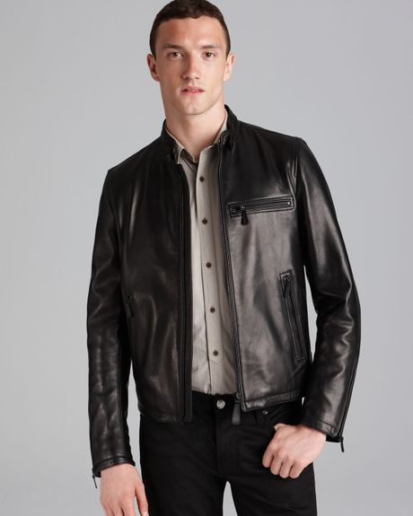 Burberry London Sterling Leather Jacket in Black for Men   Lyst
