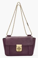 Chloé Medium Purple Pansy Leather Elsie Shoulder Bag - Lyst