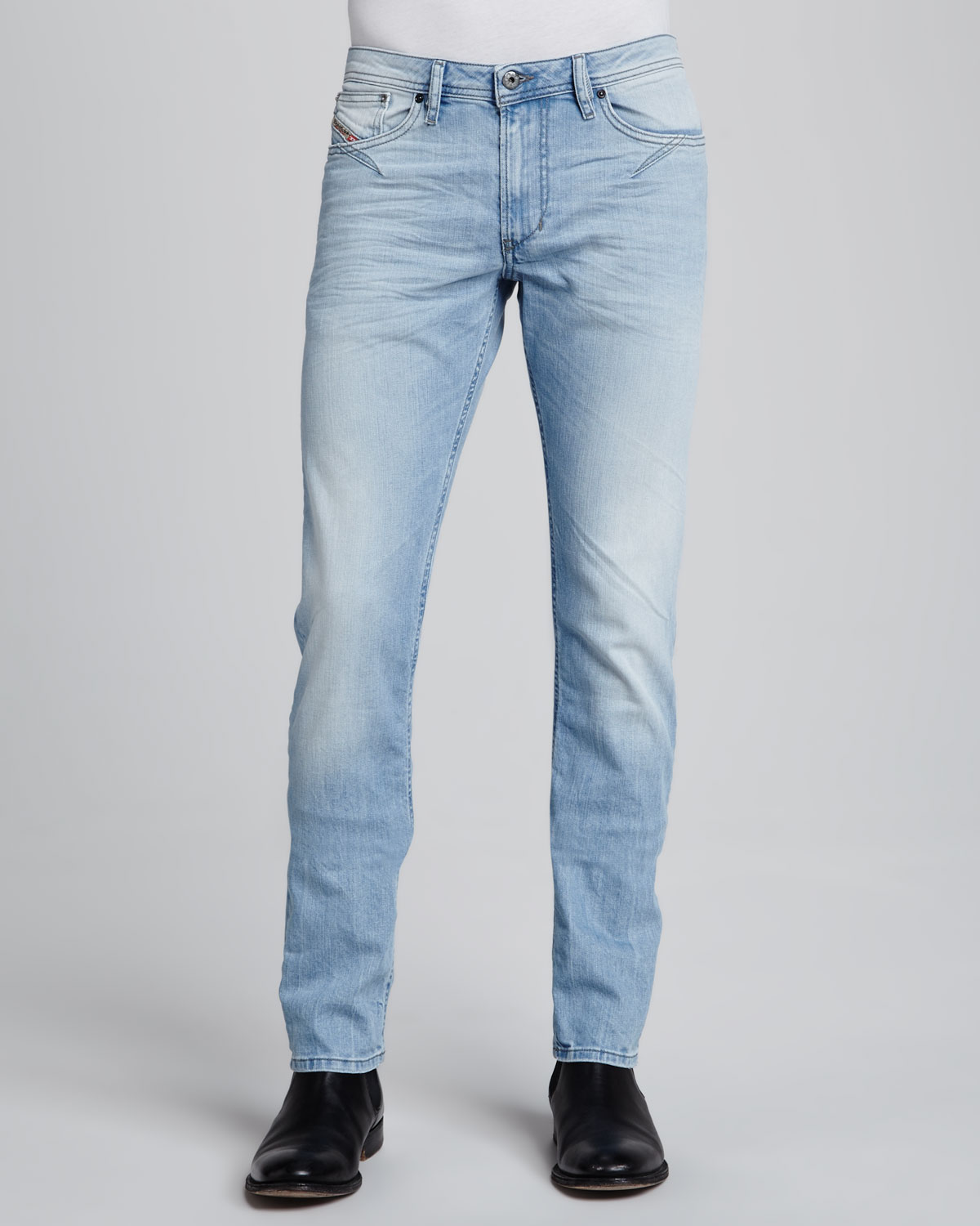 Diesel MHARKY - Vaqueros slim fit - light-blue denim kE2FqGUkB