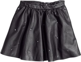 H&M Skirt with Rivets - Lyst