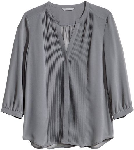 H And M Grey Blouse 70