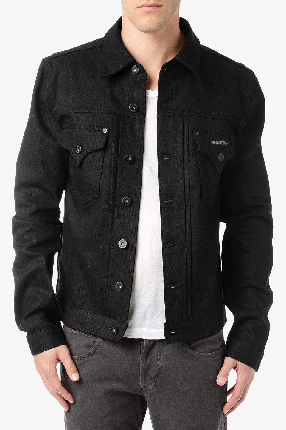 Hudson jeans Jean Jacket in Black for Men | Lyst