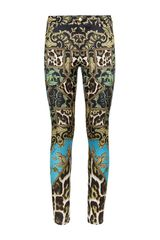 Just Cavalli Tapestry Legging Jeans - Lyst